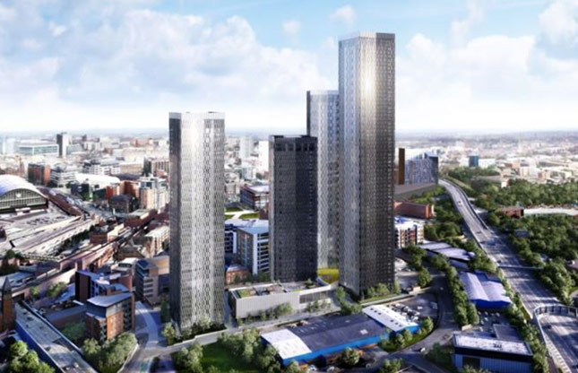 1,500 new apartments in four landmark buildings in the Great Jackson Street Masterplan