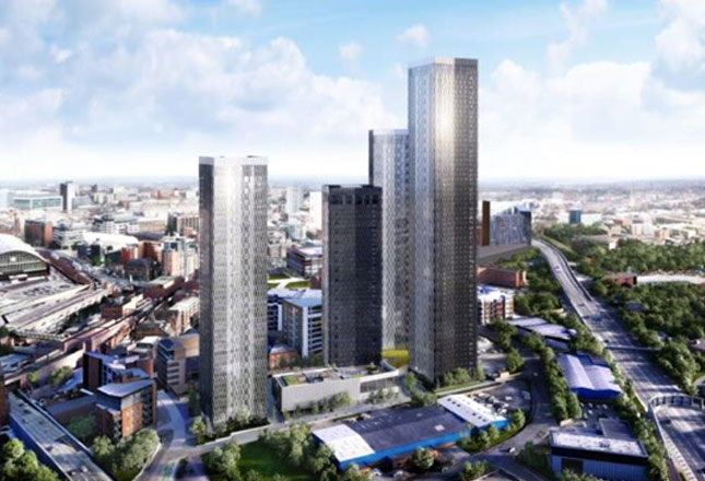 1,500 new apartments in four landmark buildings in the Great Jackson Street Masterplan